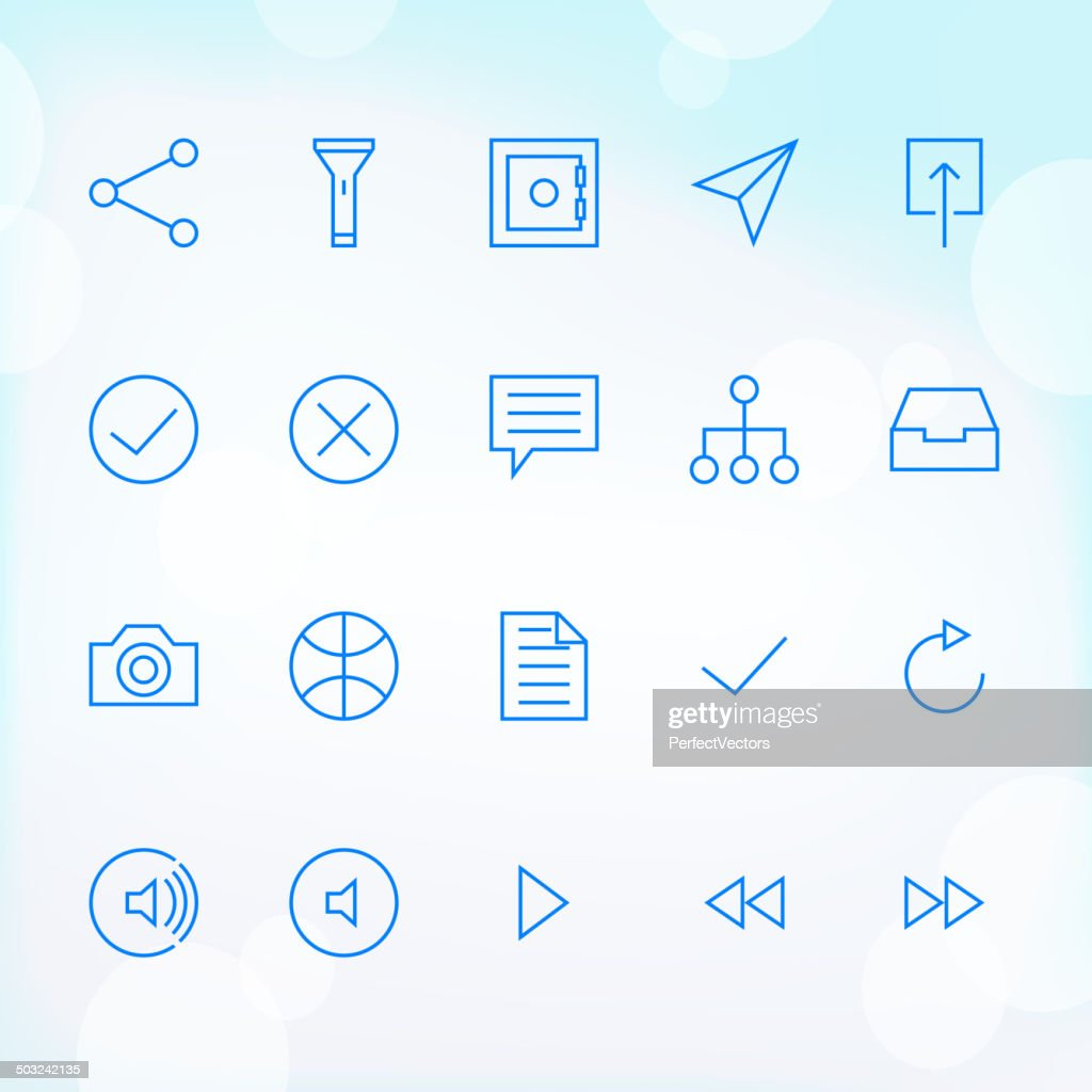 20 Trendy Thin Icons for web and mobile Set 4
