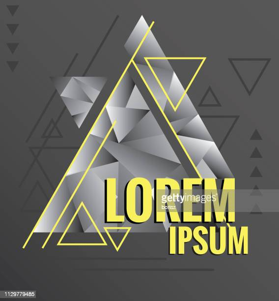 ilustrações, clipart, desenhos animados e ícones de desenho de triângulo na moda. - lorem ipsum