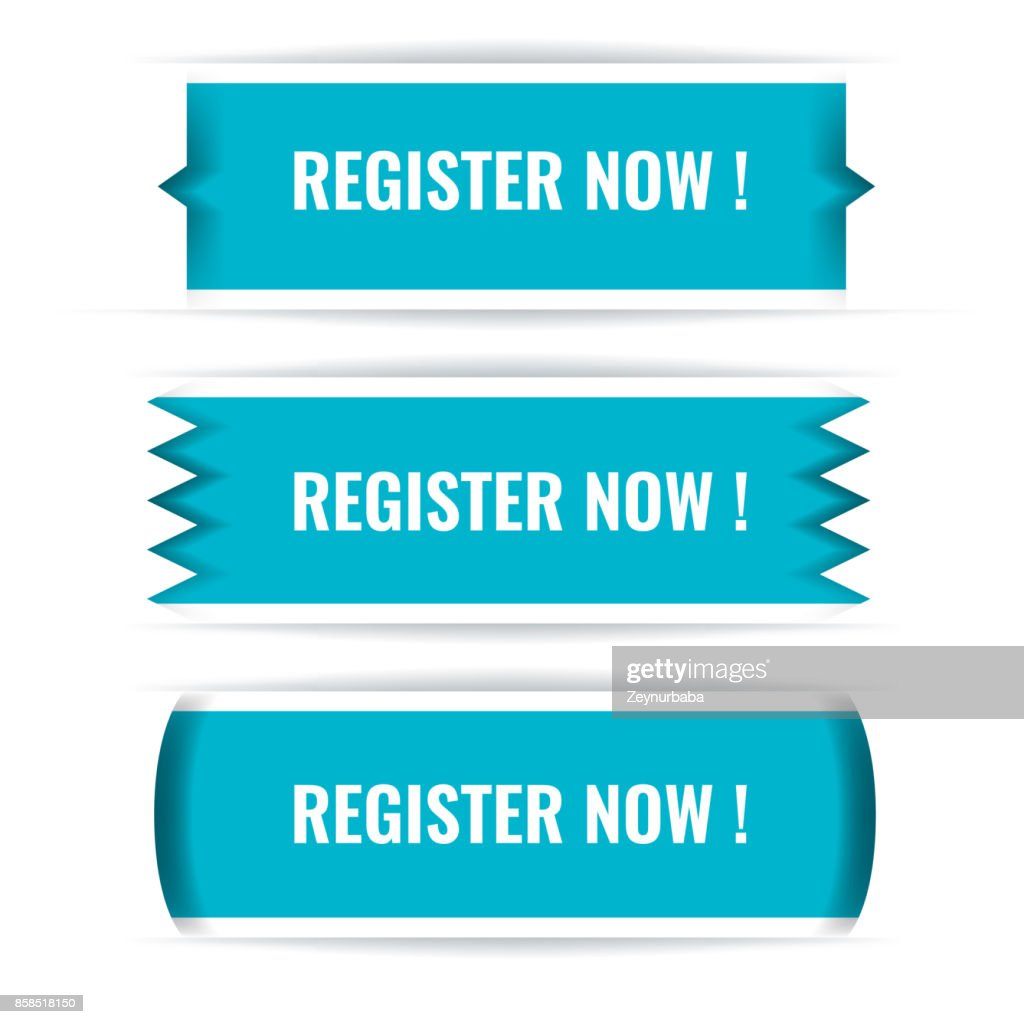 Trendy Vector Web interface or app buttons. Register now.