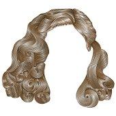 trendy woman hairs  kare blond . beauty fashion .  retro style curls .