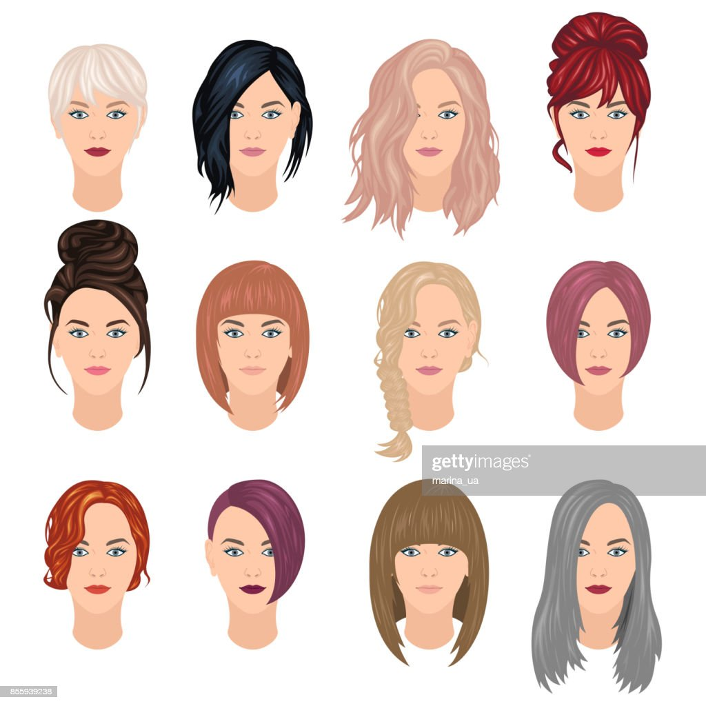 Trendy woman hairstyles