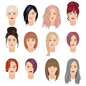 Trendy woman hairstyles