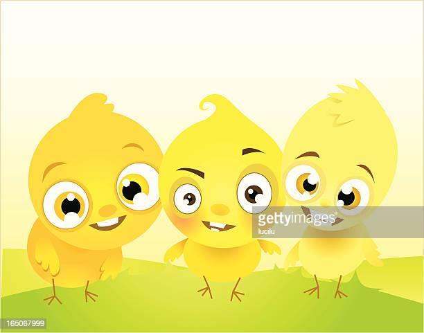 tres chikitas - três pessoas stock illustrations