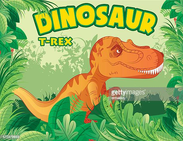 t-rex - jurassic stock illustrations, clip art, cartoons, & icons