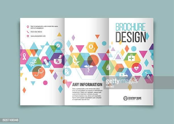 Tri fold brochure design on medical
