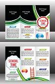 tri fold school brochure template