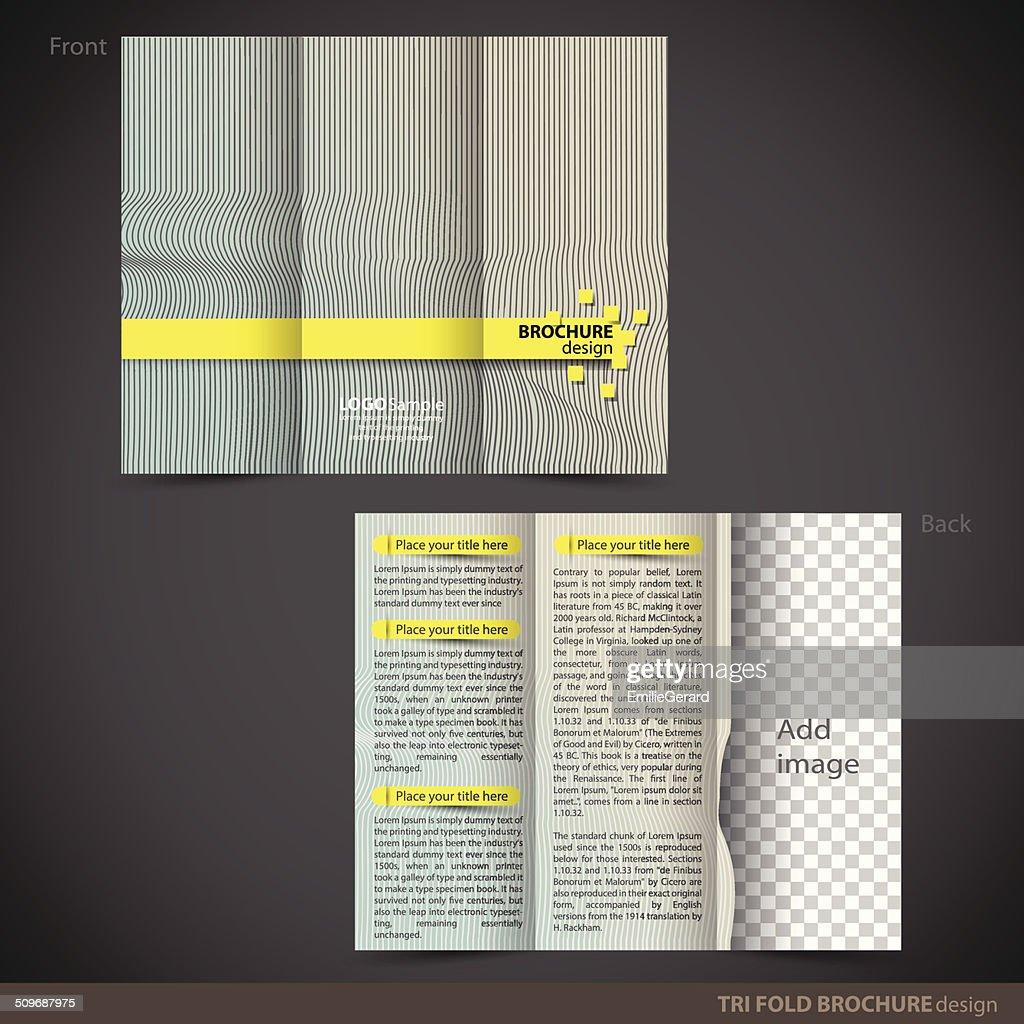 tri folder brochure leaflet mock up vector art getty images