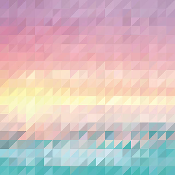 triangle abstract summer background - pastel stock illustrations
