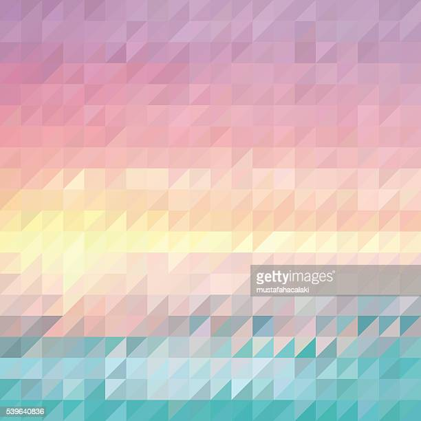 Triangle abstract summer background