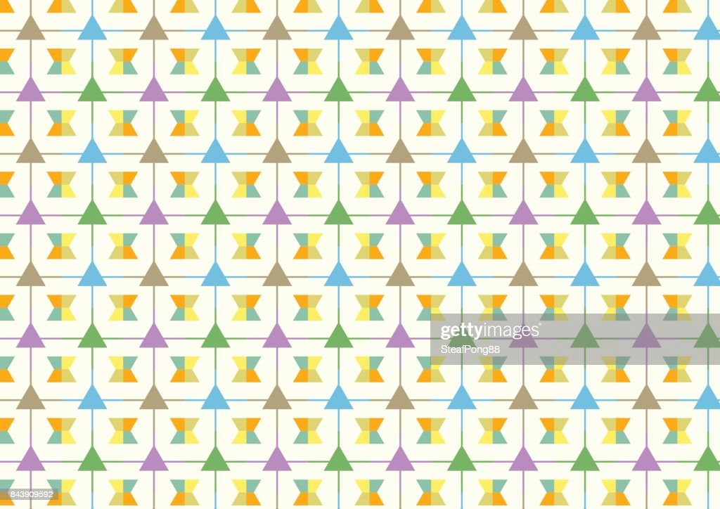Triangle and Line and Trapezoid Pattern on Pastel Background