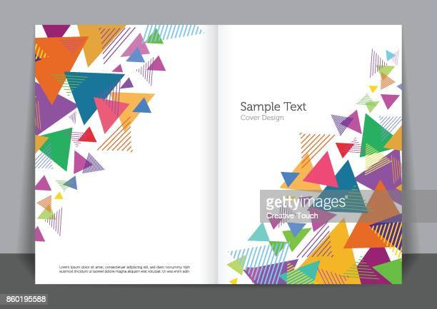 triangle cover design - covering stock illustrations, clip art, cartoons, & icons