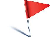Triangle flag pin.