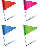 Triangle flags.