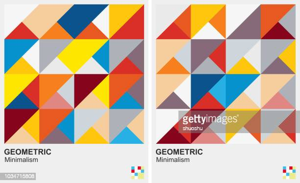 triangle geometric pattern background - triangle shape stock illustrations