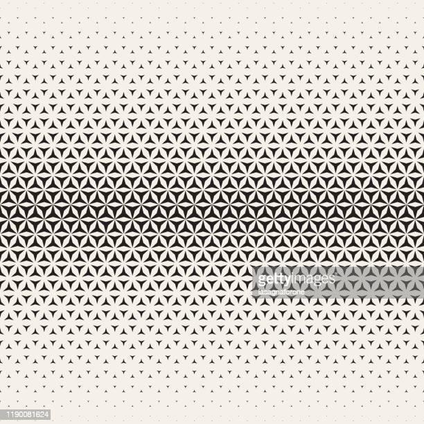 ilustraciones, imágenes clip art, dibujos animados e iconos de stock de triángulo halftone background seamless vector - fila arreglo