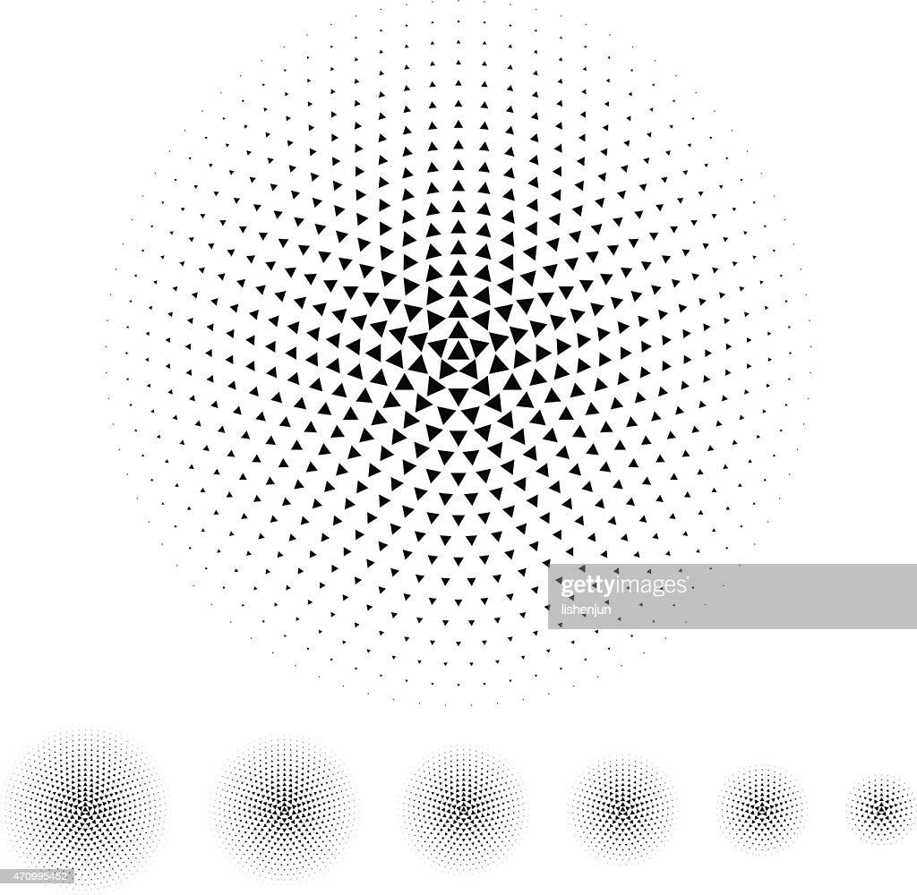 triangle halftone : Stock Illustration