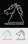 Triangle head horse