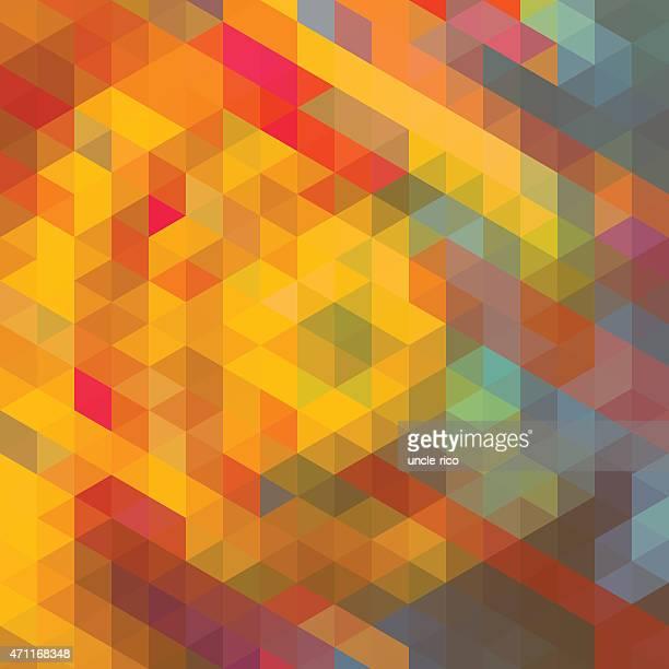 triangle polygons art pattern