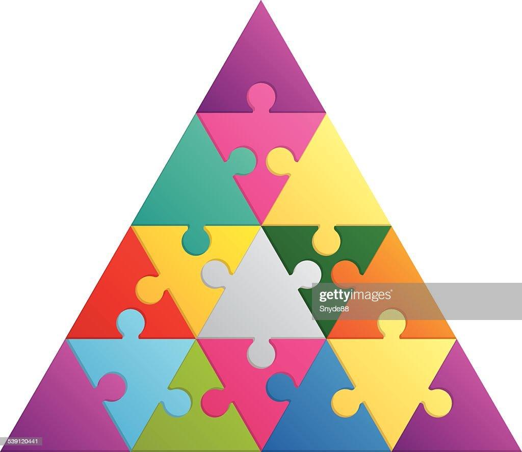 Triangle puzzle - 16 parts