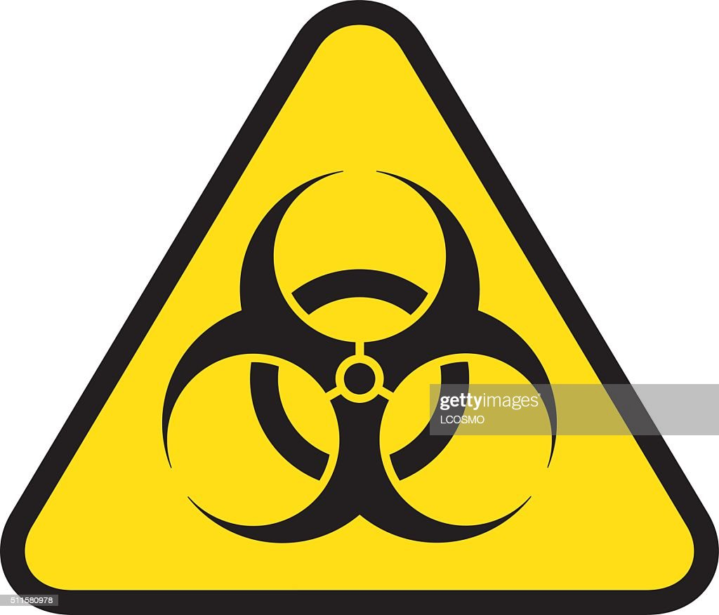 Triangle Road Sign Icon Biohazard Hospital And Chemical Waste Vector