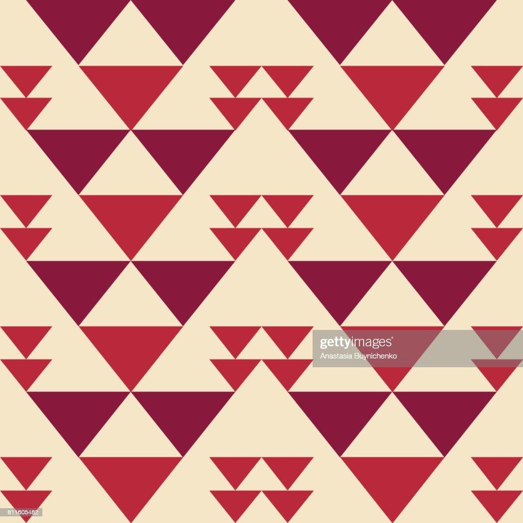 Triangle seamless oriental simple pattern