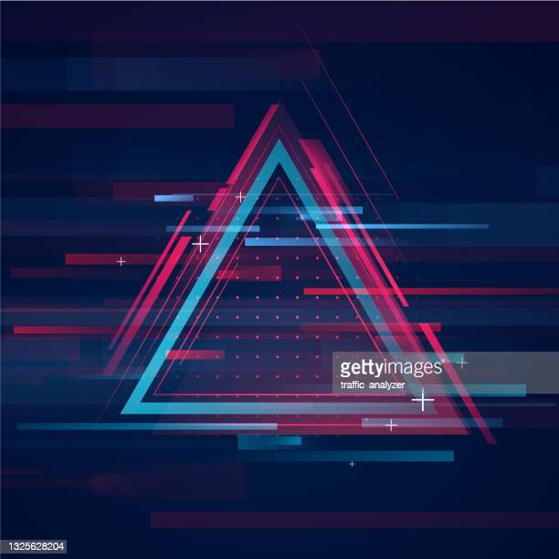 hud triangle shape - technical background - mid section stock illustrations