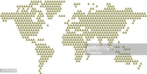 Image of a geometric world map vector art getty images keywords gumiabroncs Image collections