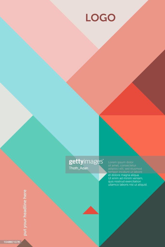 Triangles 45 degree – Cover Design Template 1 (Geometric Minimalism Set) : stock illustration