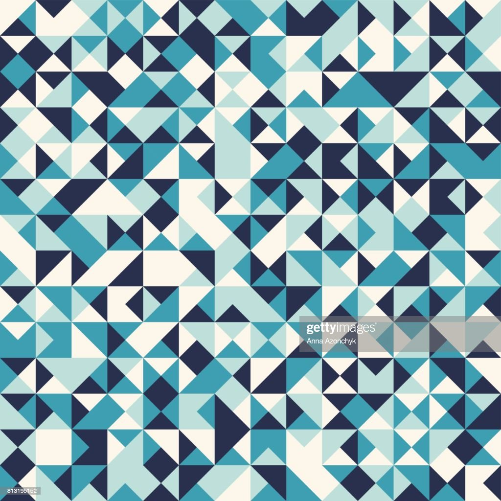 Triangular Mosaic Pattern. Geometric Seamless Background