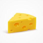 Triangular piece of cheese.