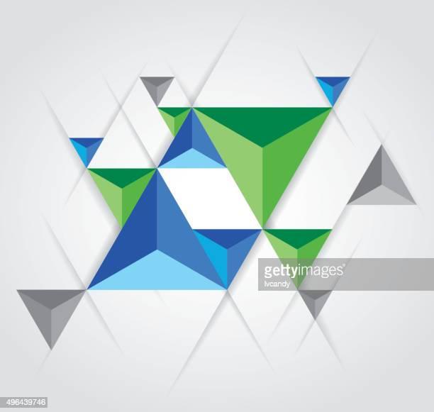 triangular pyramid background