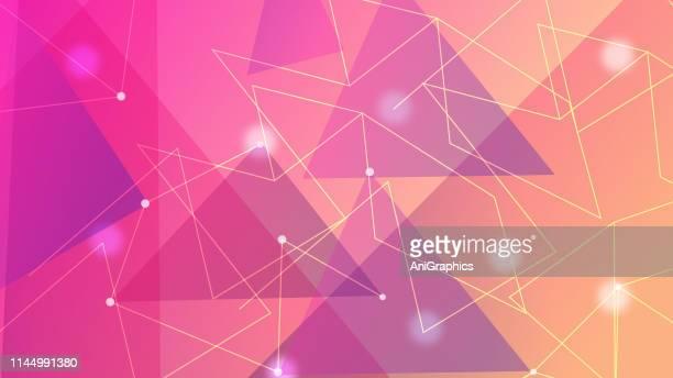triangular shape background - trapezoid stock illustrations