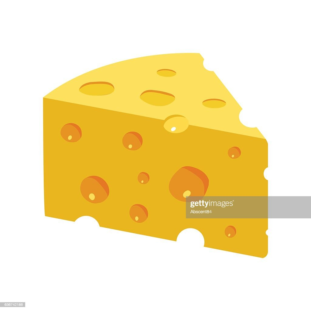 Triangular Yellow Cheese piece