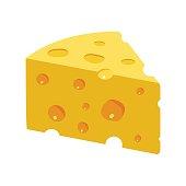 Triangular Yellow Cheese piece