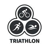 Triathlon event illustration