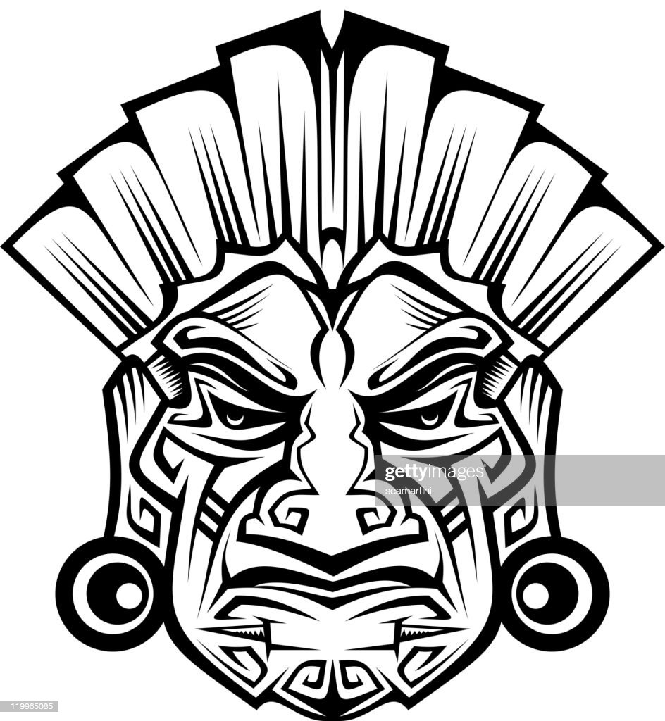 Tribal ancient mask