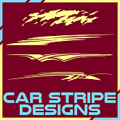 Tribal and cool Car stripe design set. Adhesive vinyl sticker designs