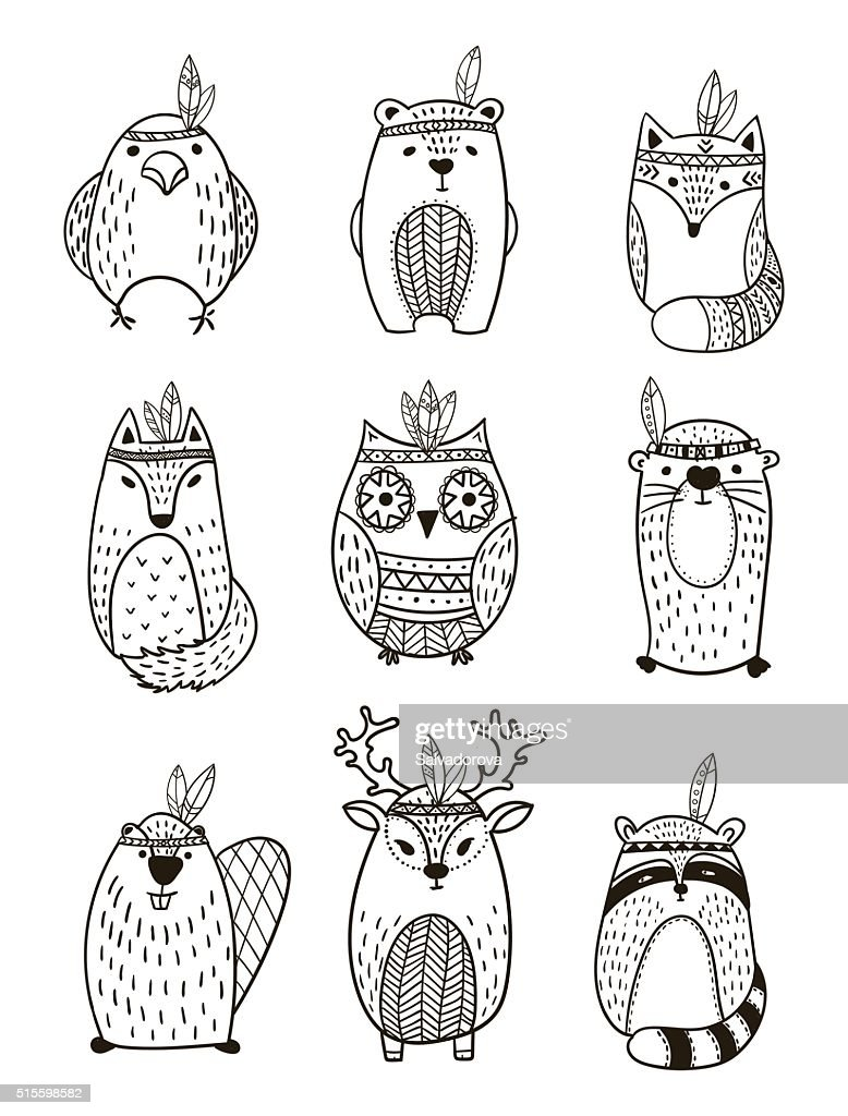 Tribal Animal collection - Illustration