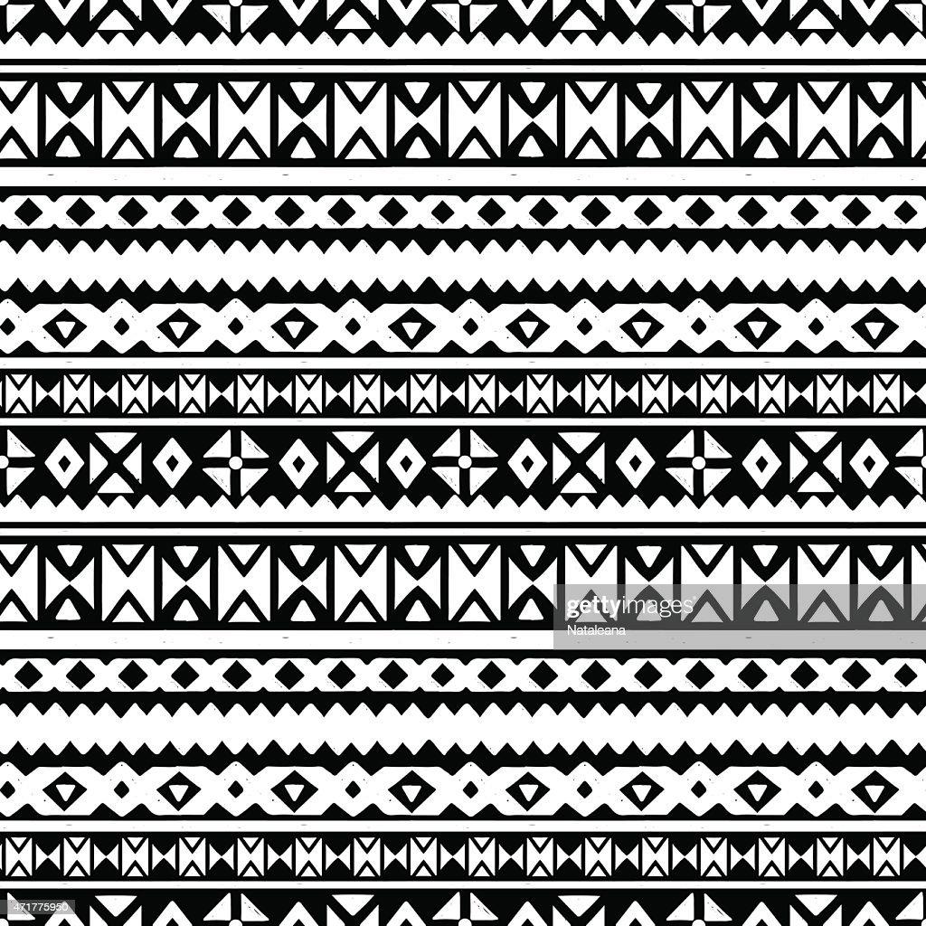 Tribal art aztec ethnic seamless pattern