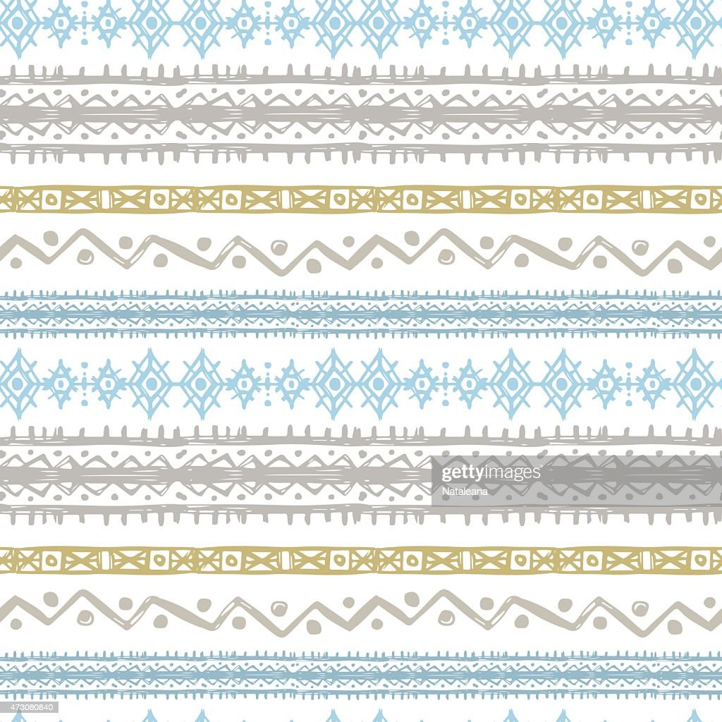 Tribal art ethnic seamless pattern