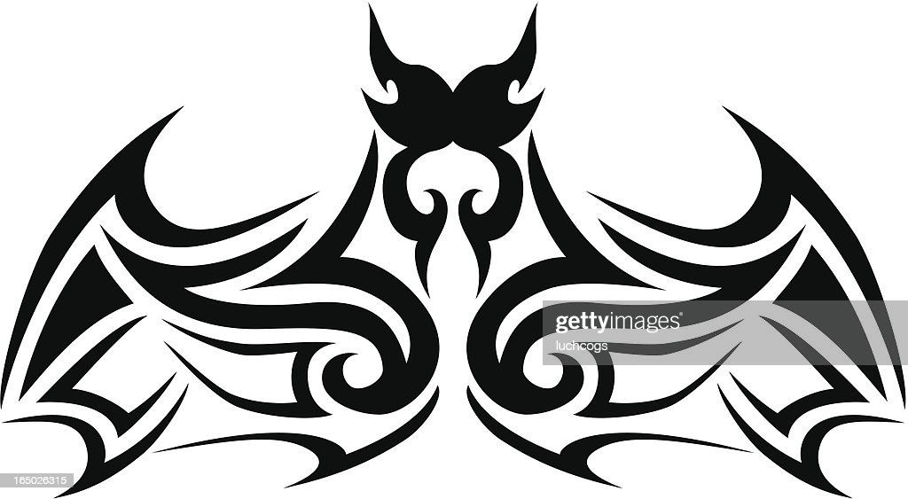 c12fdae6c Tribal Bat Stock Illustration - Getty Images