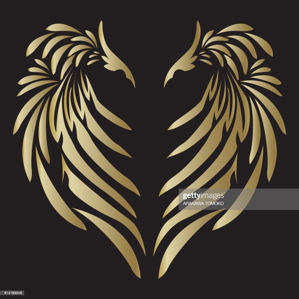 tribal design angel wing