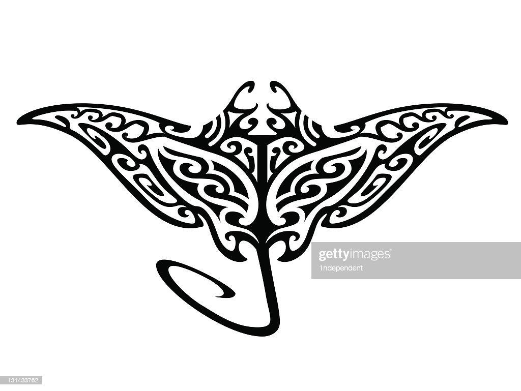 Tribal Flying Manta Ray