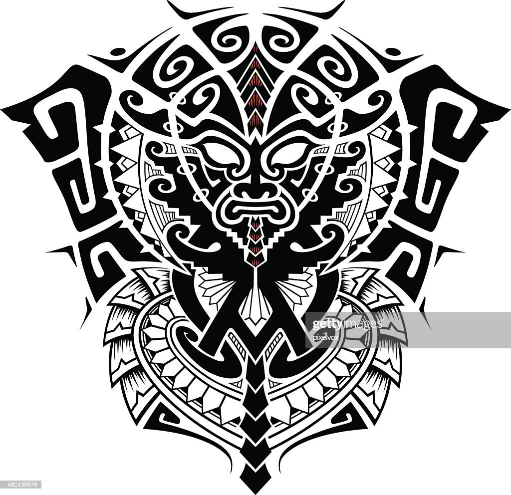tribal god mask