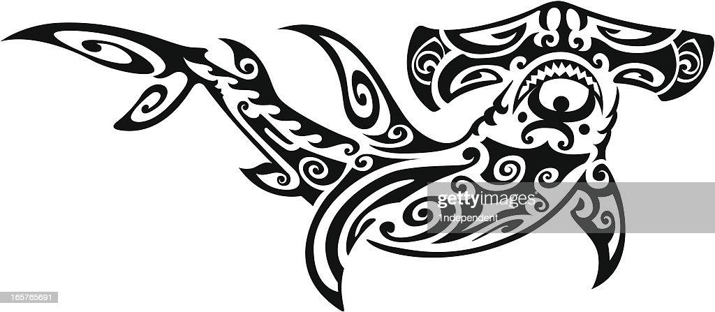 Tribal Hammerhead Shark