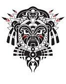 Tribal Mask vector illustration
