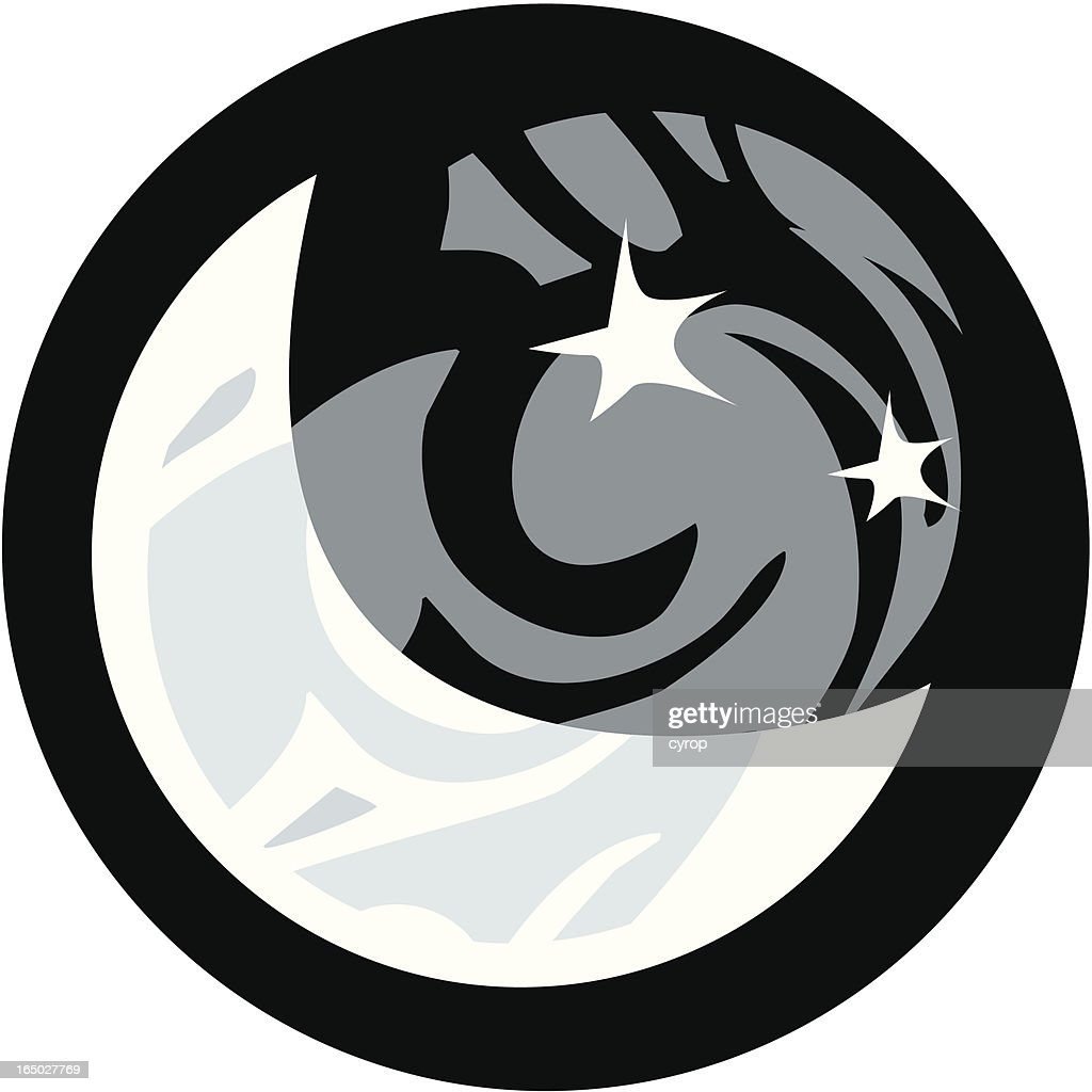 Tribal Moon And Stars Symbol Vector Art Getty Images