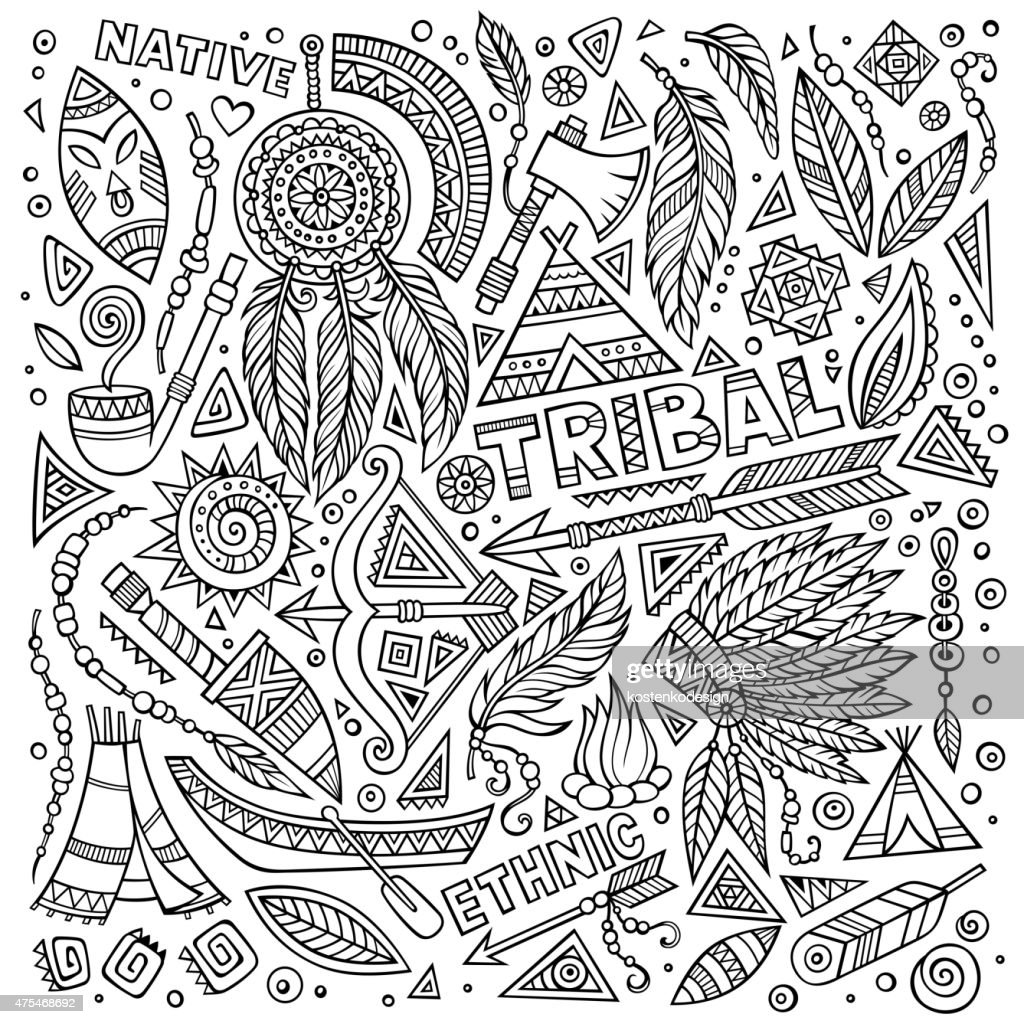 Tribal Native American Set Of Symbols Vector Art Getty Images