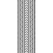 Tribal pattern polynesian, maori black pattern tattoo tribal lace sketch, ribbon, border template design,  tattoo arm maori tribal ornament elements vector isolated