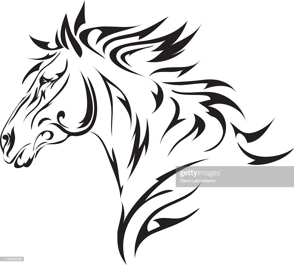 Tribal Style Horse